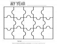 Self Reflection - Puzzle Template - Fifteen Pieces | Planerium