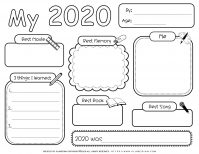 Self Reflection - Worksheet - My Year 2020 | Planerium