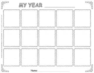 Self Reflection - Worksheet Template - Fifteen Squares Grid | Planerium