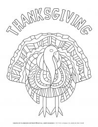 Thanksgiving Turkey - Coloring Page | Planerium