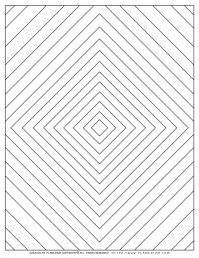 Adult Coloring Pages with Geometric Nested Diamonds | Planerium