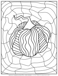 Adult Coloring Pages - Pumpkin - Free Printable | Planerium