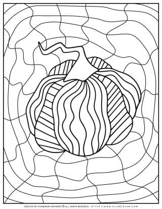 Adult Coloring Pages - Pumpkin - Free Printable | Planerium