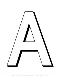 Alphabet Coloring Pages - English Letters - Capital A | Planerium