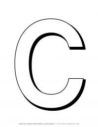 Alphabet Coloring Pages - English Letters - Capital C | Planerium