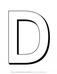 Alphabet Coloring Pages - English Letters - Capital D | Planerium
