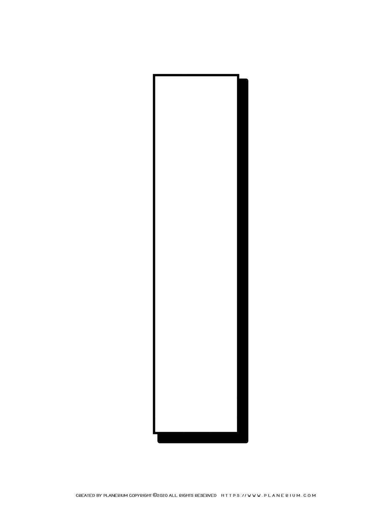 Alphabet Coloring Pages - English Letters - Capital I | Planerium