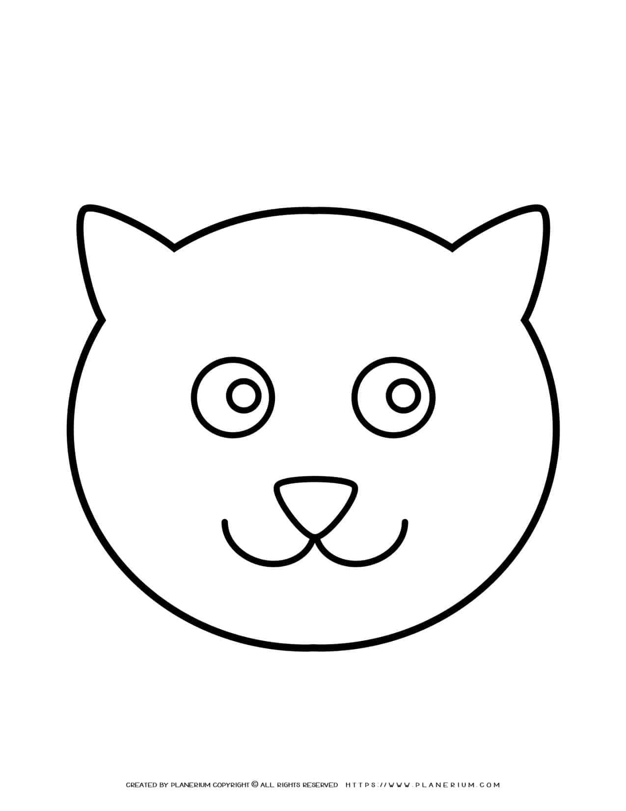 Cat Face Outline   Planerium