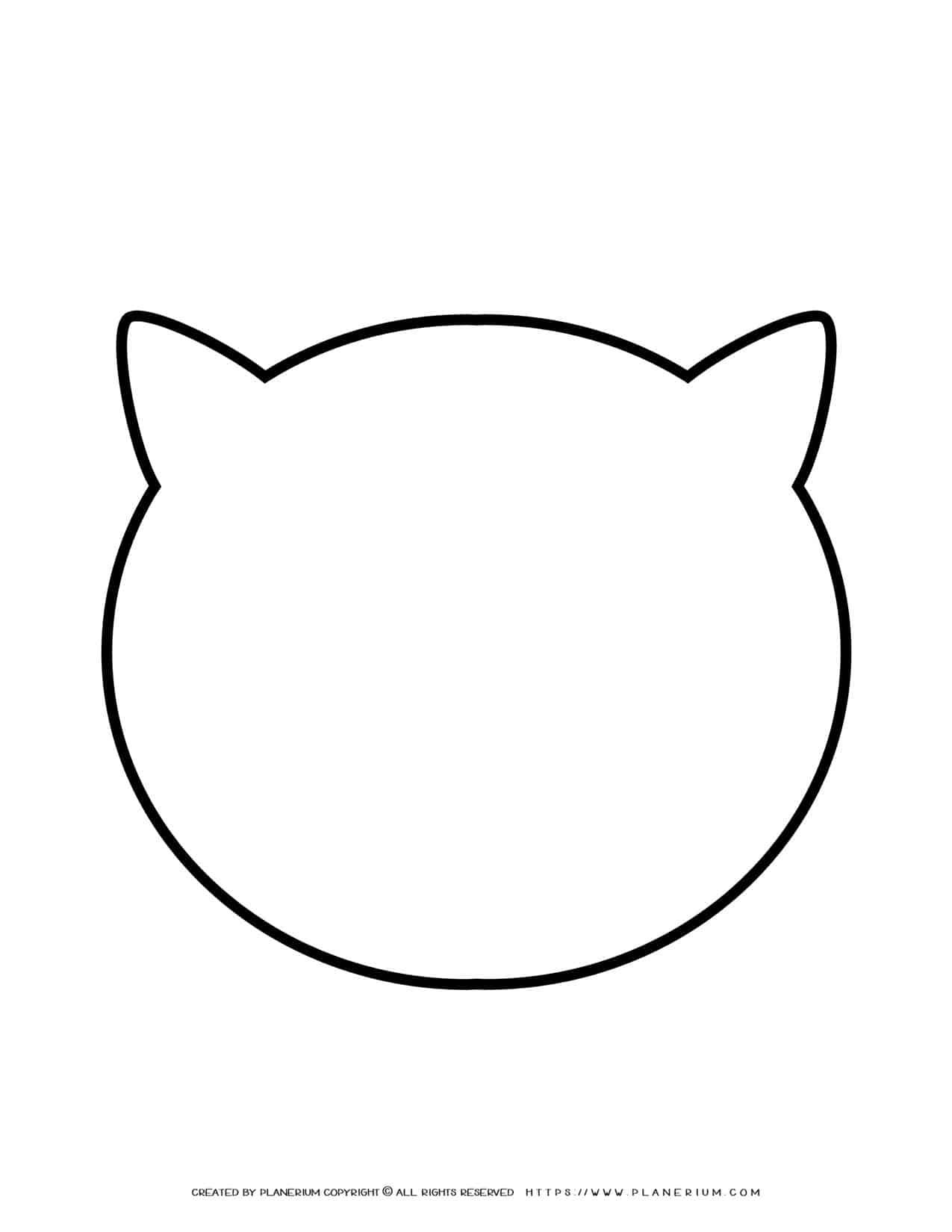 Cat Head Outline   Planerium