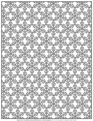 Christmas Coloring Pages - Snowflakes Pattern | Planerium
