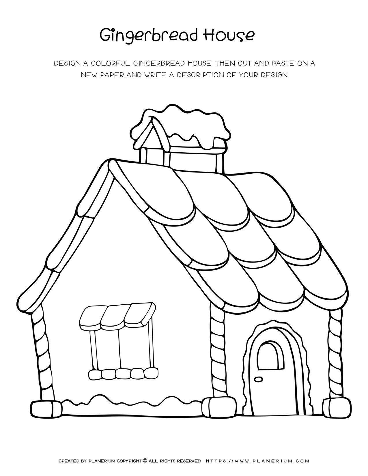 Christmas Worksheet - Gingerbread House Design | Planerium