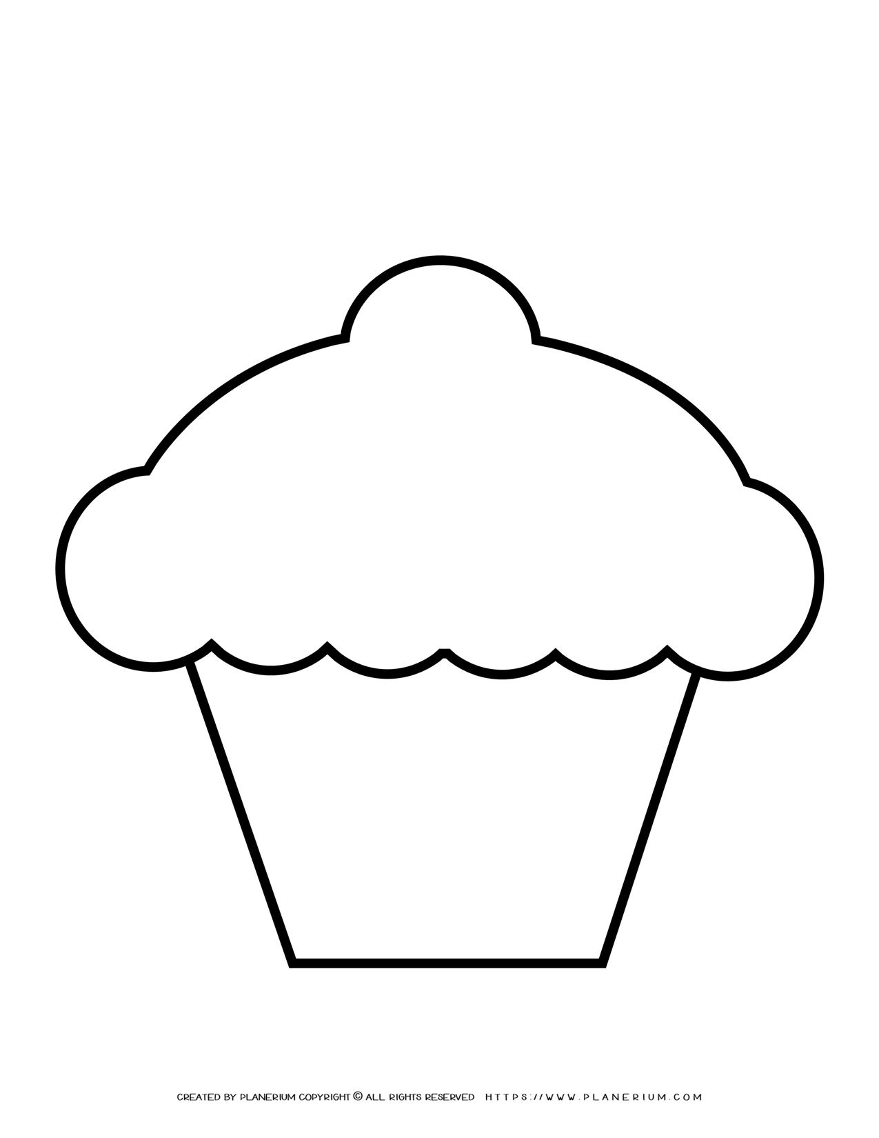 Cupcake Outline | Planerium