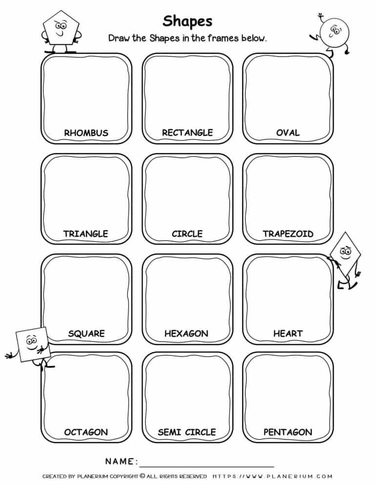 Drawing Shapes - Worksheet | Planerium
