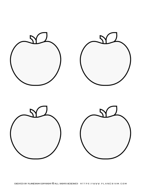 Four Apples Outline | Planerium