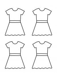 Four Dresses Outline | Planerium