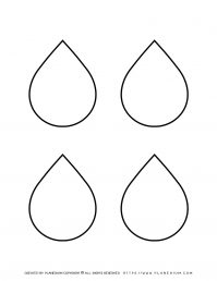 Four Water Drops Outline | Planerium