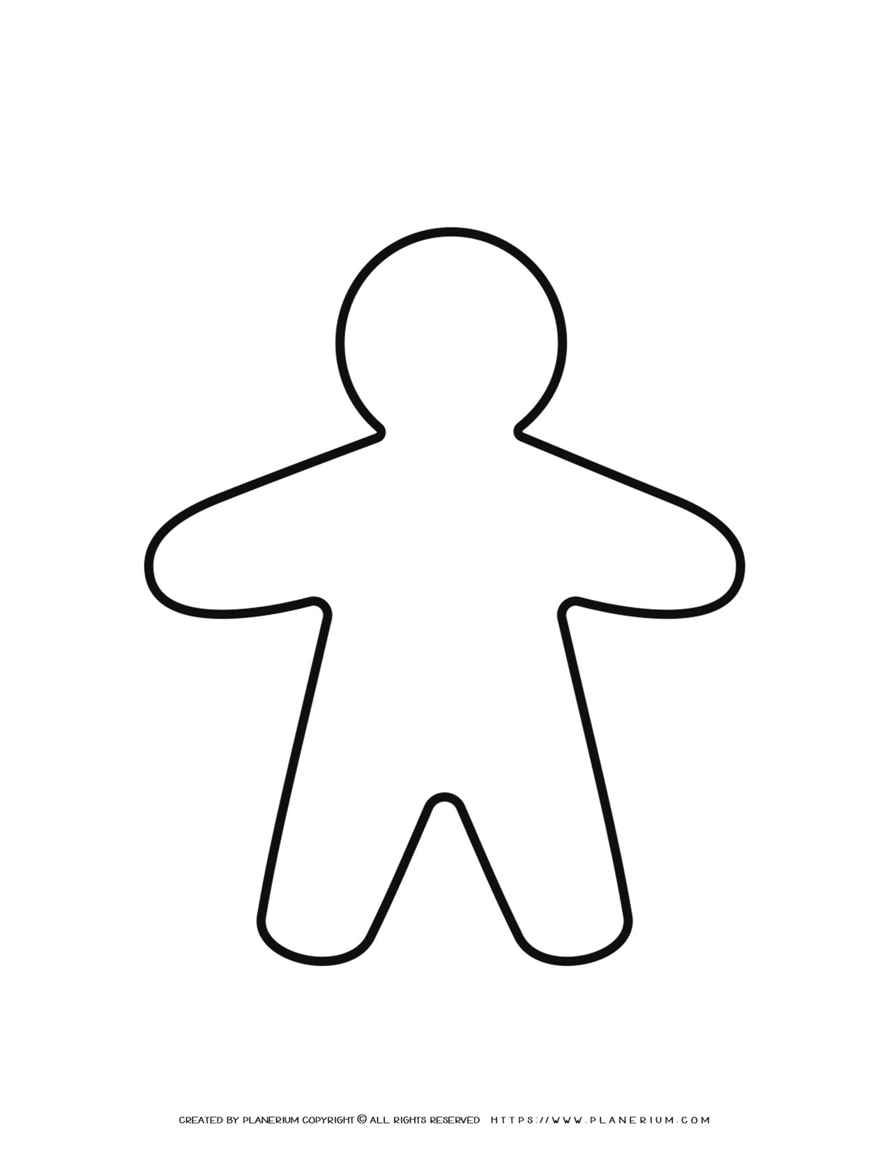 Gingerbread Template - Male | Planerium