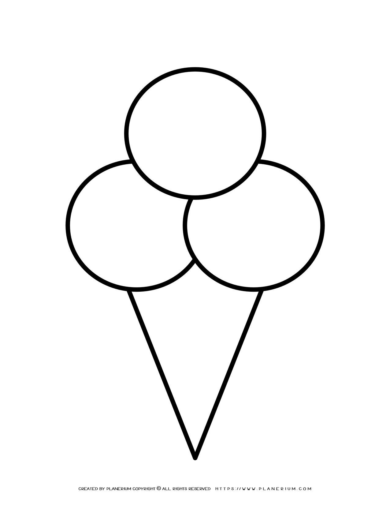 Ice Cream Outline | Planerium