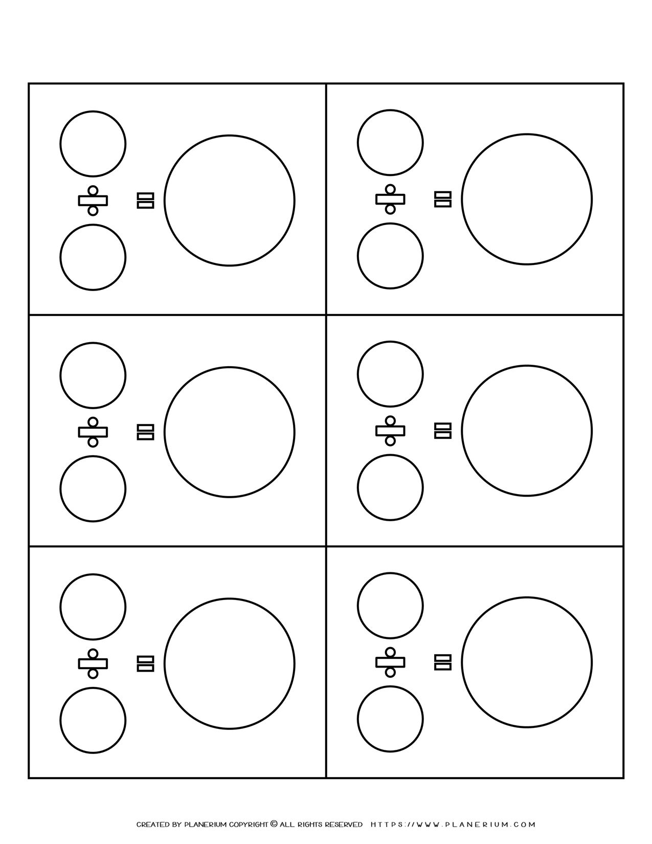 Math Equation - Division Template | Planerium