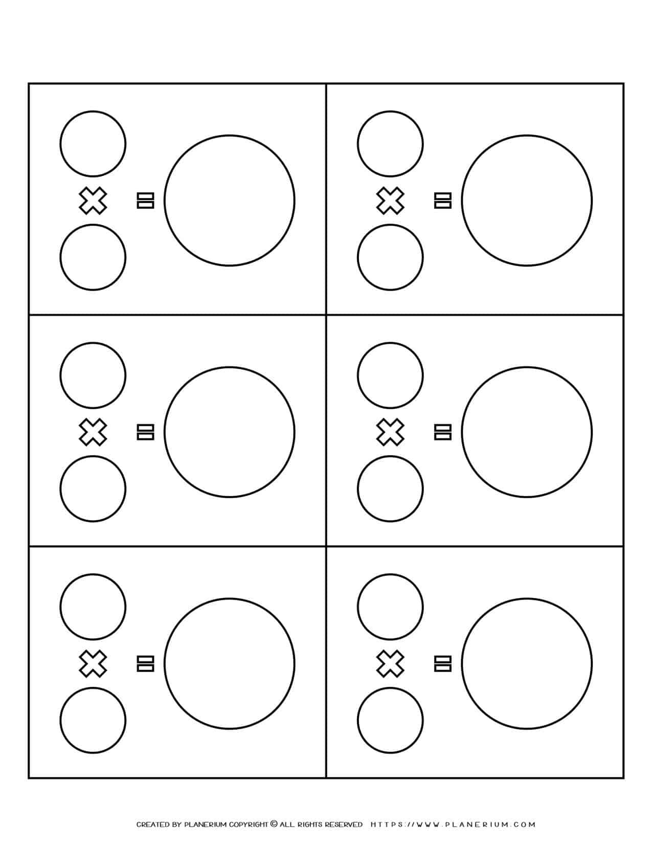 Math Equation - Multiplication Template | Planerium