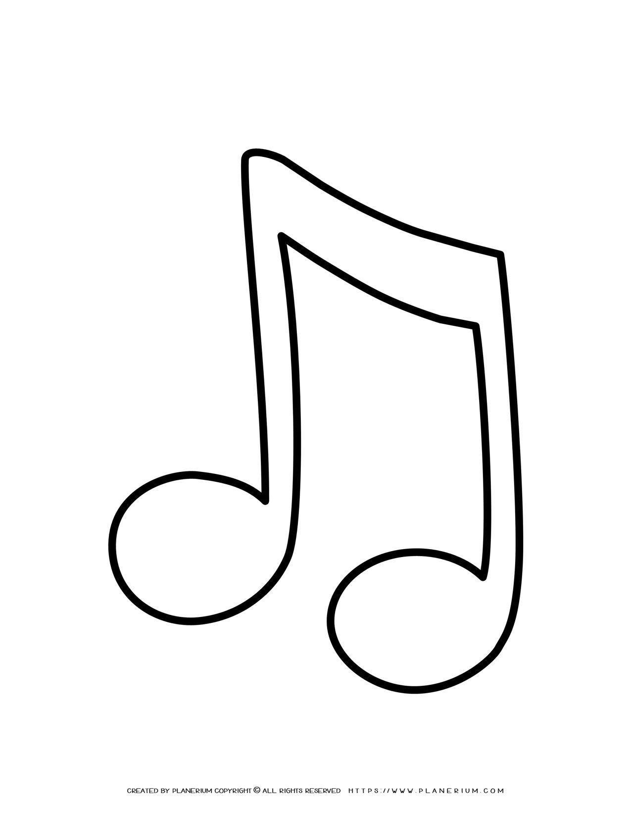 Music Note Outline | Planerium