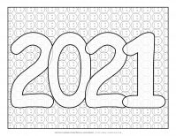 New Year Coloring Pages - Smileys Background | Planerium