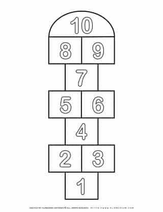 Numbers Game Board Template 1-10 | Planerium