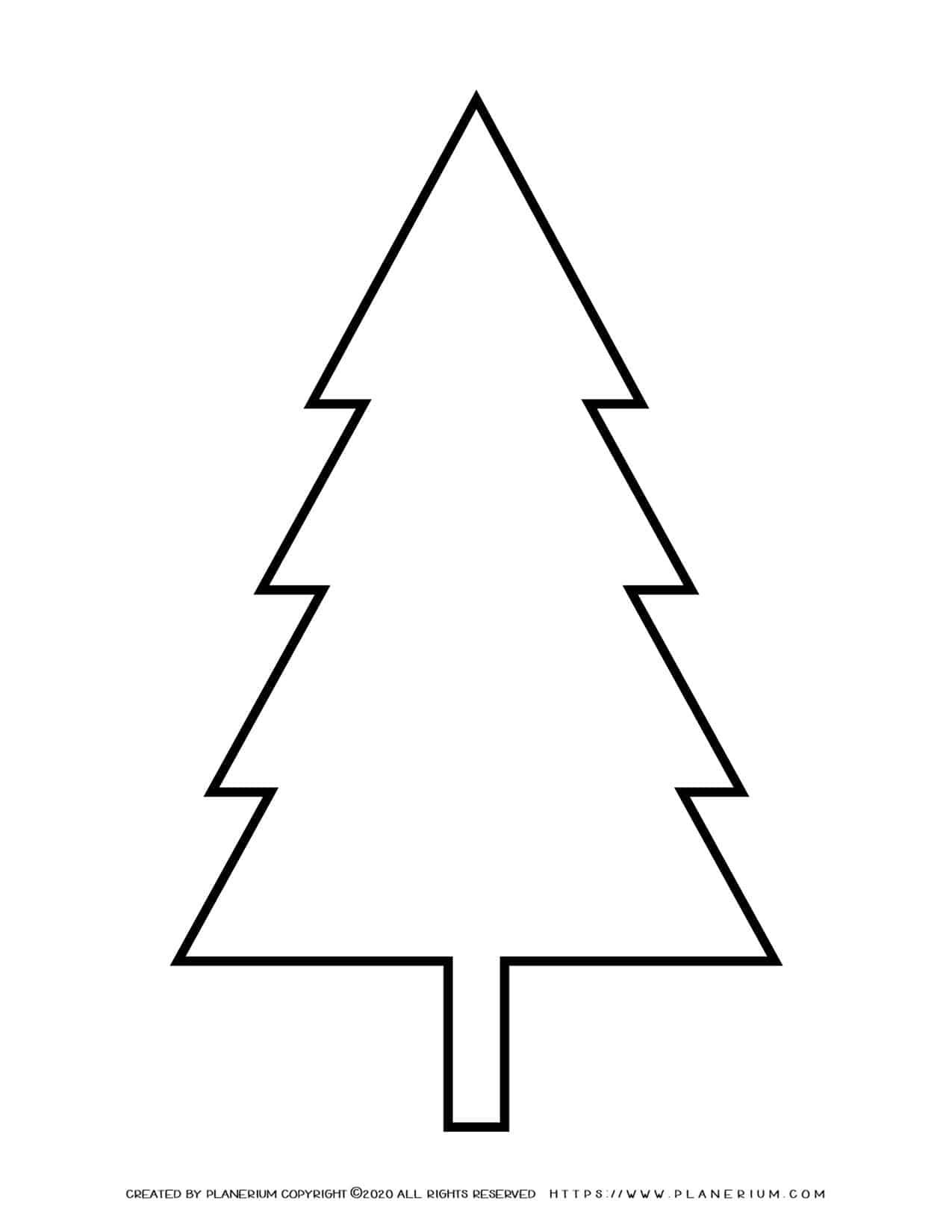Pine Tree Outline   Planerium