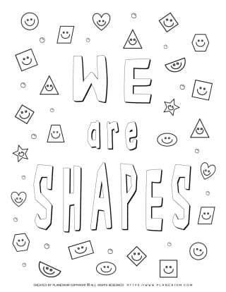 Shapes Coloring Pages - We Are Shapes | Planerium