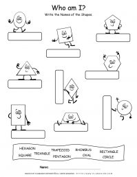 Shapes Worksheets - Name The Shapes | planerium
