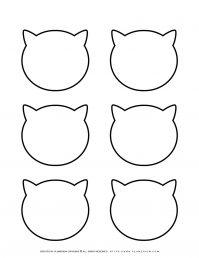Six Cat Heads Outline | Planerium
