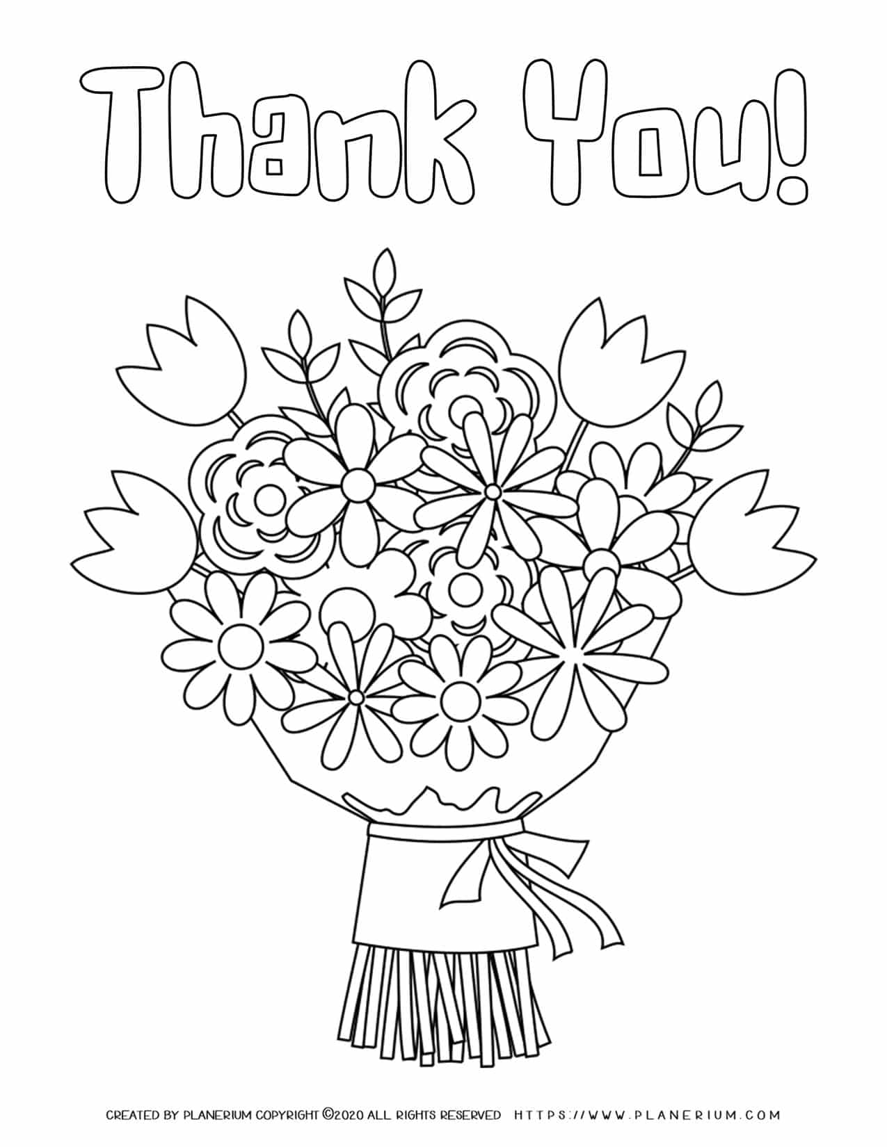Thank You Coloring Page | Planerium
