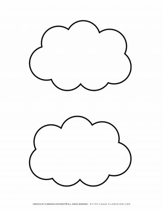 Two Clouds Outline