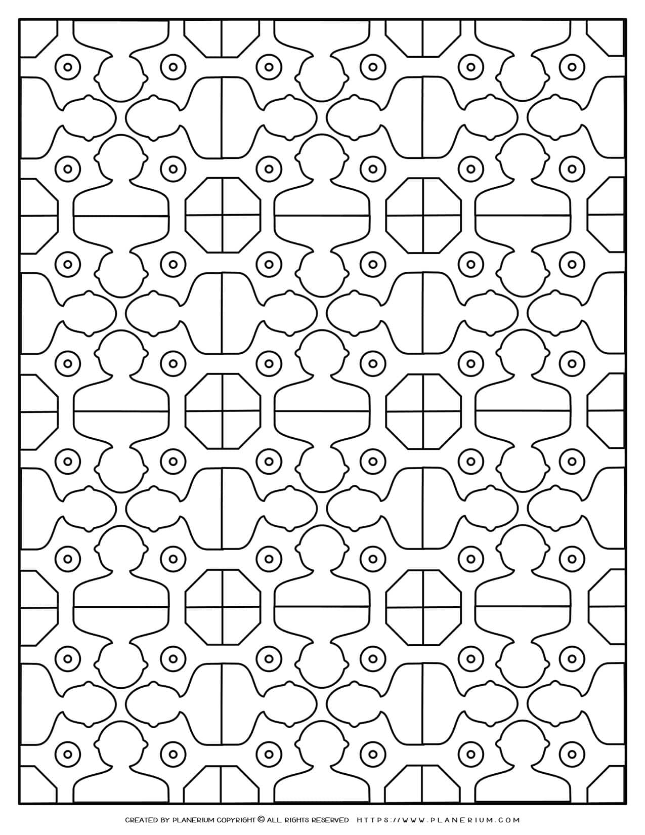 Adult Coloring Pages - People Pattern | Planerium