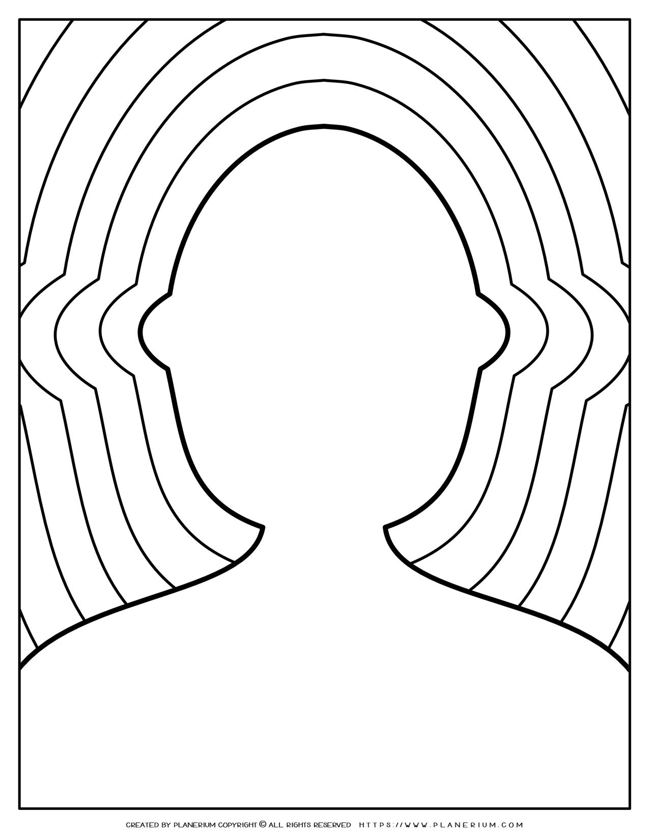 Adult Coloring Pages - Person Outline Ripples | Planerium