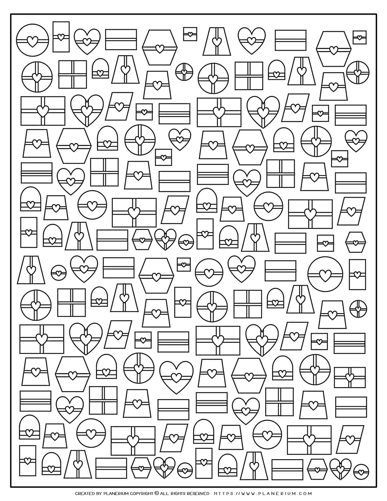 Adult Coloring Pages - Presents | Planerium