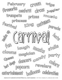 Carnival Related Words | Planerium