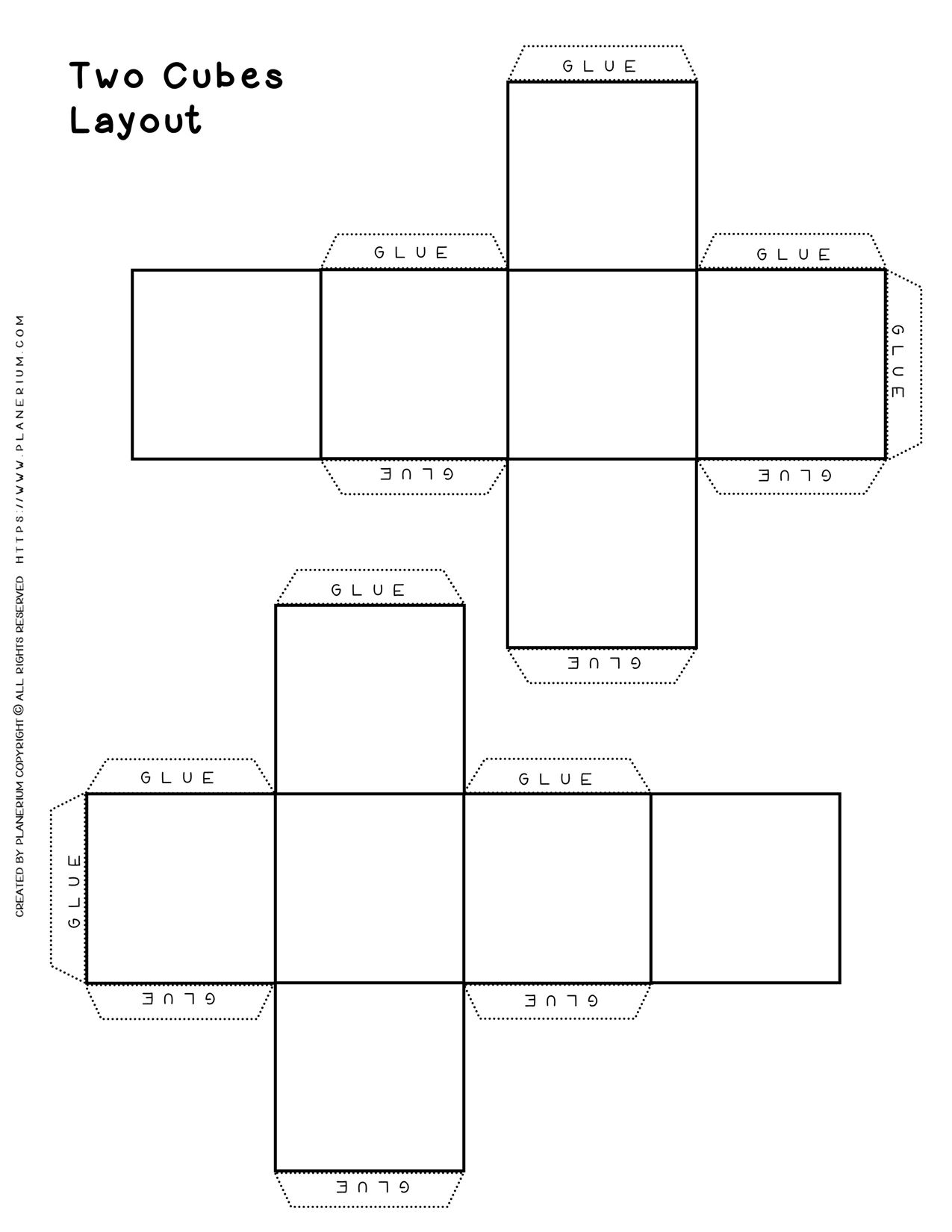Cube Layout - Two Cubes | Planerium