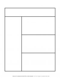 Graphic Organizer Templates - Chart with One Column and Three Rows   Planerium