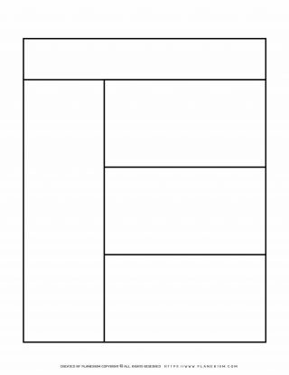 Graphic Organizer Templates - Chart with One Column and Three Rows | Planerium