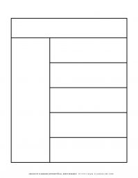 Graphic Organizer Templates - Chart with One Column and Five Rows   Planerium