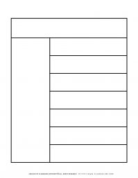 Graphic Organizer Templates - Chart with One Column and Seven Rows   Planerium