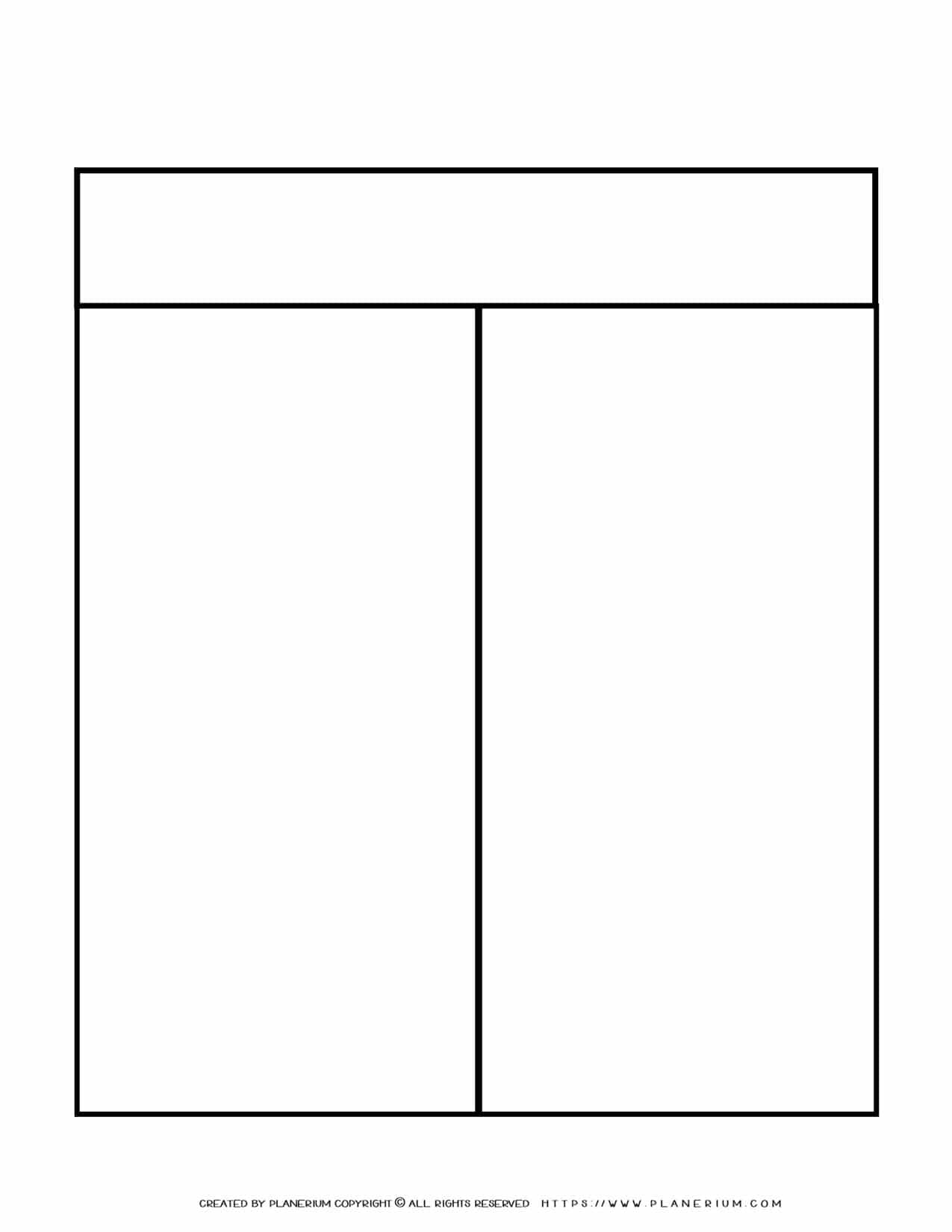 Graphic Organizer Templates - Chart with Two Column | Planerium