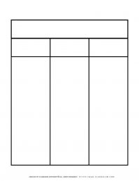 Graphic Organizer Templates - Chart with Three Columns and Two Rows   Planerium