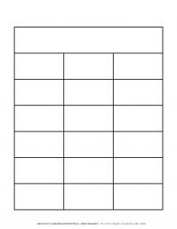 Graphic Organizer Templates - Chart with Three Columns and Six Rows | Planerium