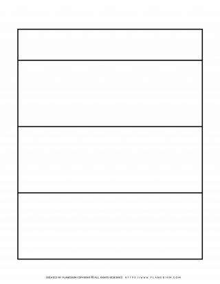 Graphic Organizer Templates - Chart with Three Rows | Planerium