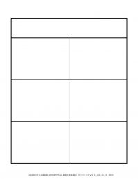 Graphic Organizer Templates - Chart with Six Notes   Planerium