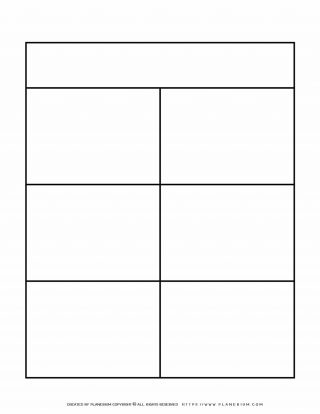 Graphic Organizer Templates - Chart with Six Notes | Planerium
