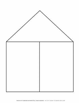 Graphic Organizer Templates - House Chart with Two Columns | Planerium
