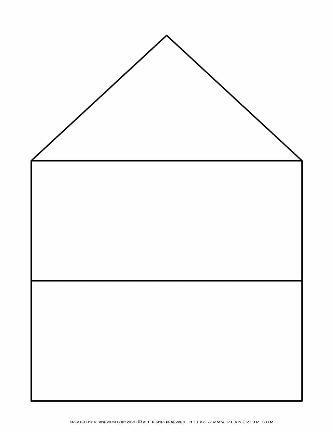 Graphic Organizer Templates - House Chart with Two Rows | Planerium